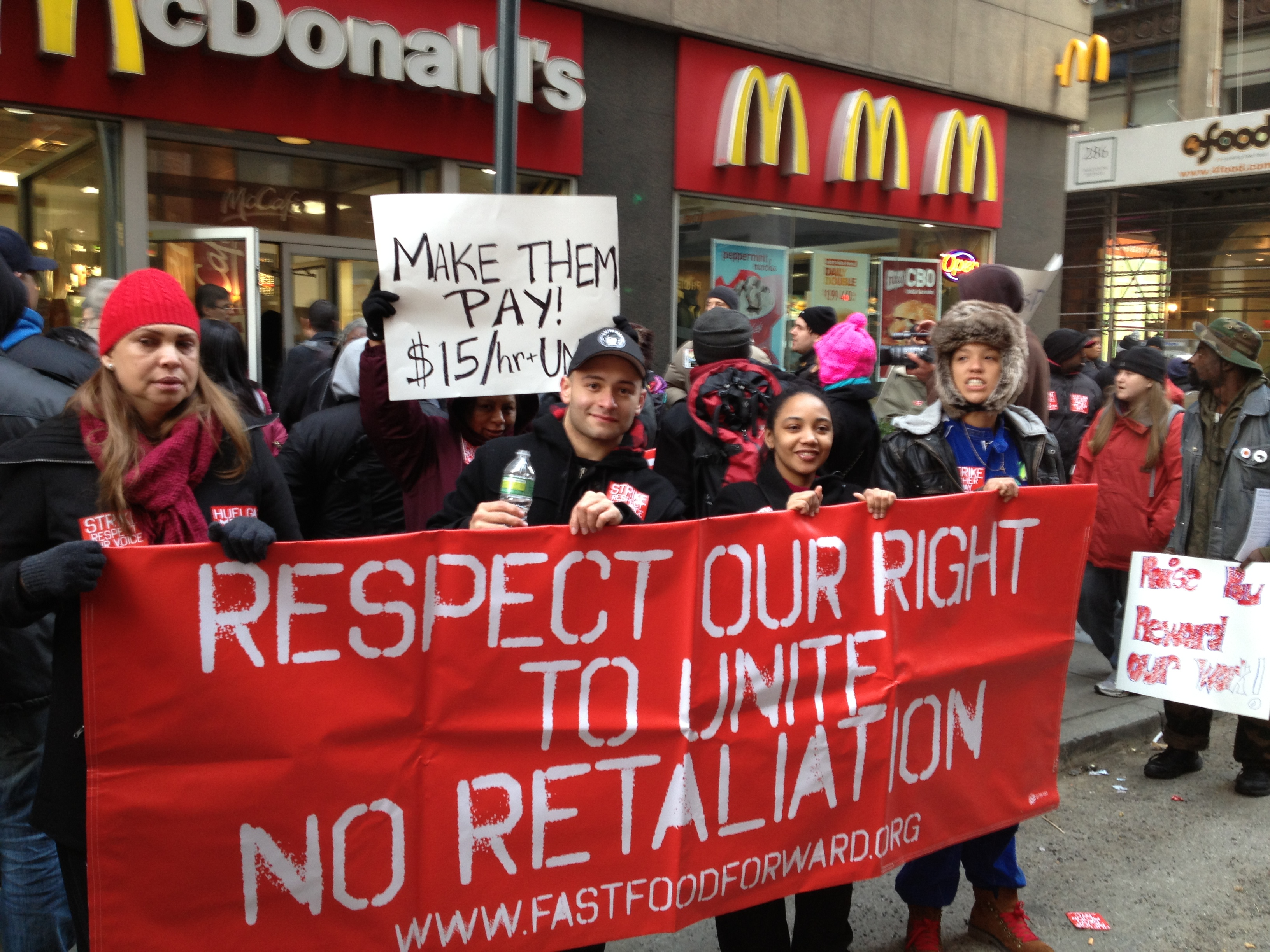 New York Fast Food Workers Walk Off the Job | Labor Notes