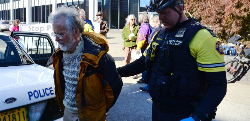 Portlanders Kicked, Arrested for Protesting Post Office