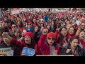 Crowd of UTLA teachers on strike in January 2019