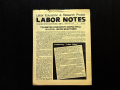 Cover of the first issue of Labor Notes