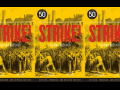 "book cover says ""STRIKE! Jeremy Brecher, 50th anniversary edition, revised, expanded, and updated edition, preface by Sara Nelson, foreword by Kim Kelly,"" and there is a quote from Eric Foner: ""No book could be more timely for those seeking the roots of our current condition."" Image shows a crowd of workers with farm implements approaching a mill."