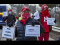 Nurses in Michigan protesting lack of PPE and calling for the nationalization of the healthcare system