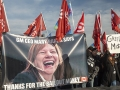 Osawa GM workers protest against the company and its CEO Mary Barra